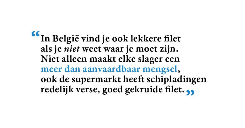 Column over Belgie en Nederland - Filet Americain
