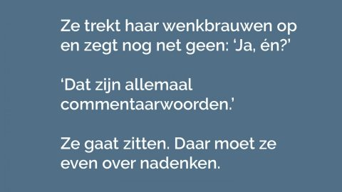 Juf journalistiek (3) – Commentaarwoorden