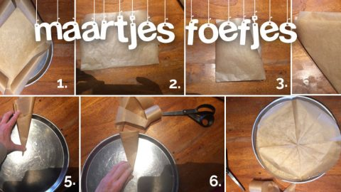 Maartjes foefjes: cirkelvormig bakpapier